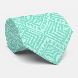 Samoan Tapa Tropical Mint Green Tie
