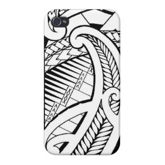 Samoan tattoo with Maori elements iPhone 4/4S Covers