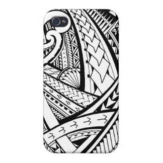Samoan tribal tattoo design with spearheads cover for iPhone 4