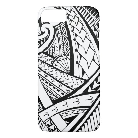 Samoan tribal tattoo design with spearheads iPhone 7 case