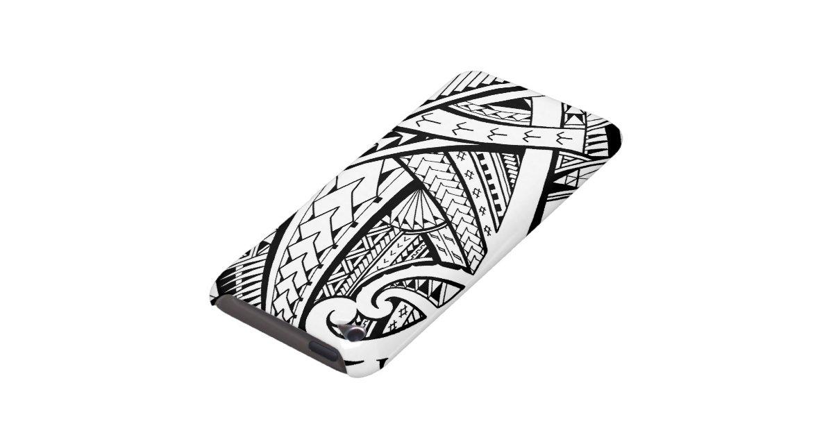 Samoan tribal tattoo design with spearheads iPod Case-Mate