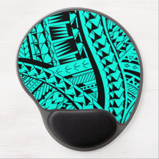 Samoan tribal tattoo pattern with spearheads art gel mouse pad