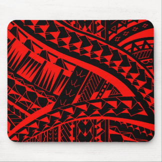 Samoan tribal tattoo pattern with spearheads art mouse pad