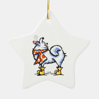 Samoyed American Eskimo Dog Snowflake Christmas Ornament