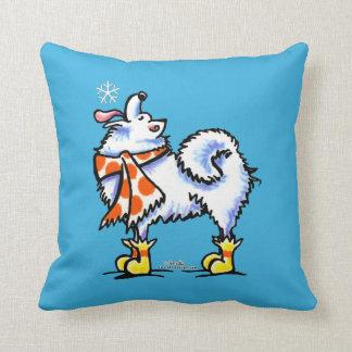 Samoyed American Eskimo Dog Snowflake Pillows
