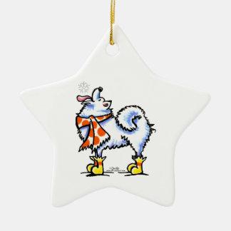 Samoyed American Eskimo Dog Snowflake Ornaments