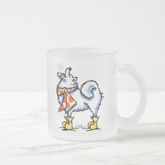Samoyed American Eskimo Dog Snowflake Coffee Mug