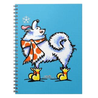 Samoyed American Eskimo Dog Snowflake Journals