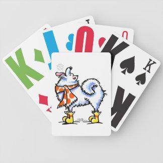 Samoyed American Eskimo Dog Snowflake Poker Cards