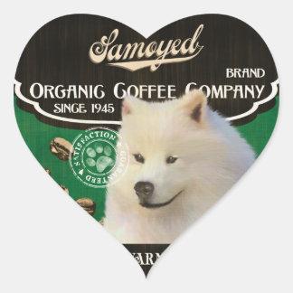 Samoyed Brand – Organic Coffee Company Heart Sticker