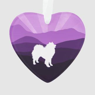 Samoyed Ceramic Heart Ornament; Choice of Shapes