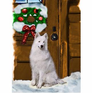 Samoyed Christmas Gifts Photo Cutout