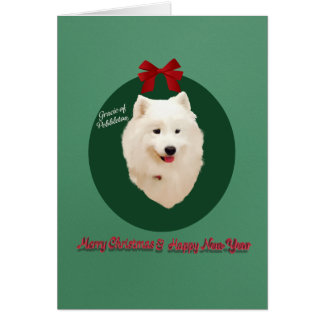 Samoyed Christmas Holiday Custom Card