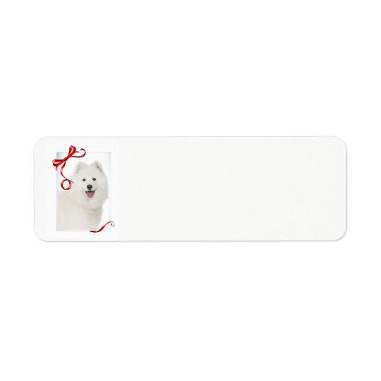 Samoyed Christmas Return Address Labels