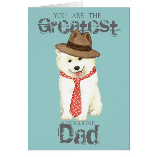 Samoyed Dad Card