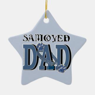 Samoyed DAD Ceramic Star Decoration