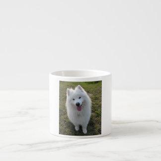 Samoyed dog beautiful photo espresso mug