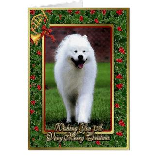 Samoyed Dog Blank Christmas Card