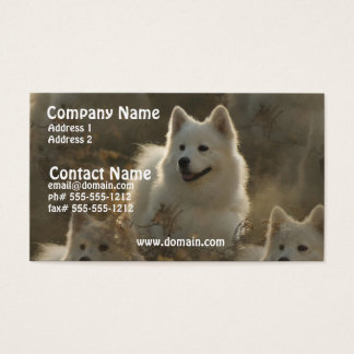 Samoyed Dog Breed Business Card
