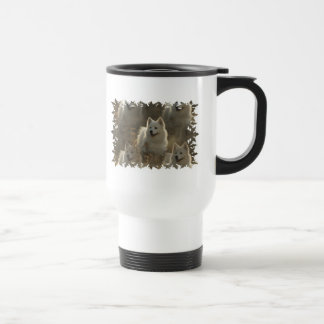 Samoyed Dog Breed Plastic Travel Mug