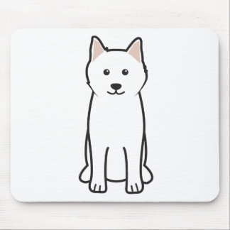 Samoyed Dog Cartoon Mouse Mat