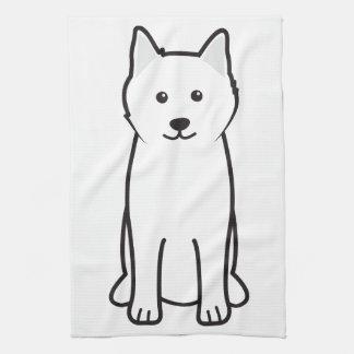 Samoyed Dog Cartoon Tea Towel