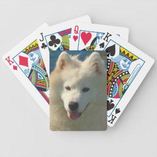 Samoyed Dog Playing Cards