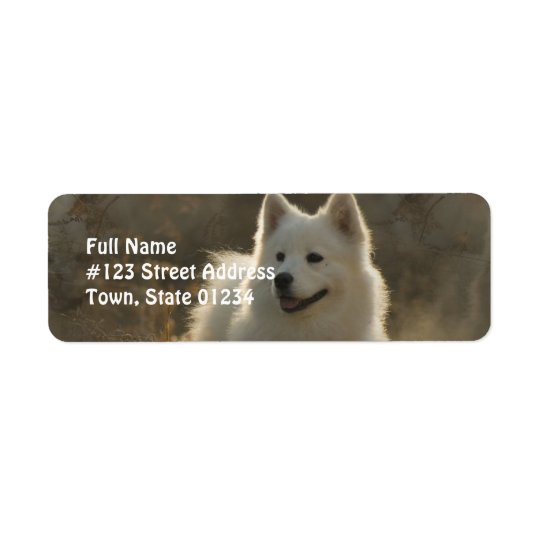 Samoyed Dog Return Address Label