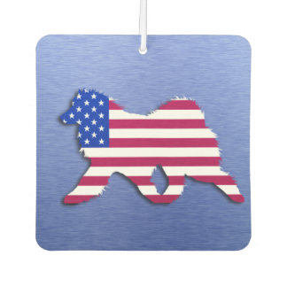 Samoyed Flag Air Freshener