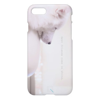 """Samoyed """"Friends come in white."""" by Qunamax iPhone 8/7 Case"""