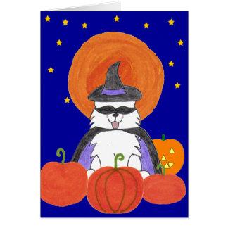 Samoyed Halloween Moon Card