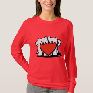 Samoyed Heartfelt Duo T-Shirt