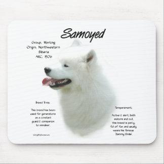 Samoyed History Design Mouse Pad