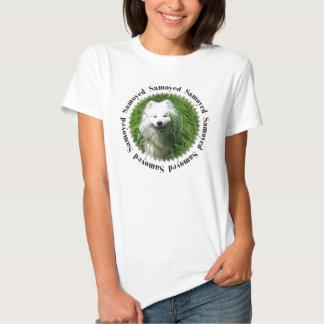 Samoyed In Grass W/Samoyed T Shirt
