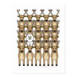 Samoyed in the Reindeer Postcard