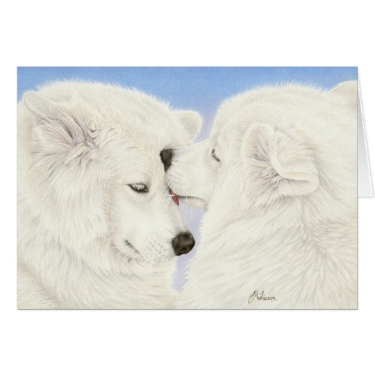 Samoyed Love Greeting Card