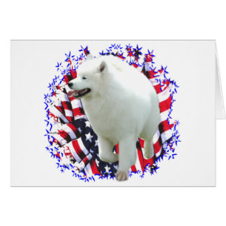 Samoyed Patriot Card