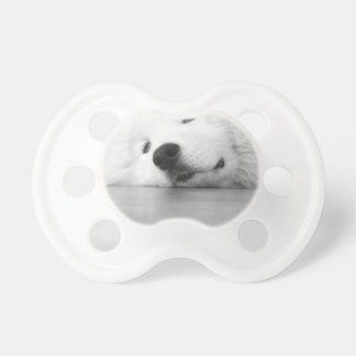 Samoyed Photo Dog White Baby Pacifier