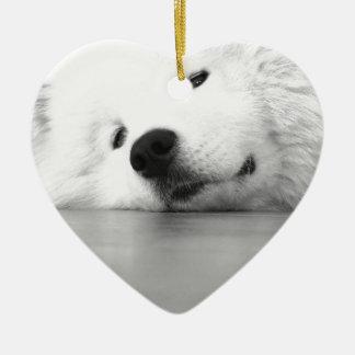 Samoyed Photo Dog White Christmas Ornament