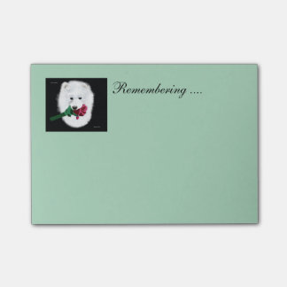 Samoyed Post-it® Notes 4 x 3; Remembering Notes!