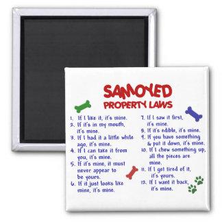 SAMOYED Property Laws 2 Fridge Magnets