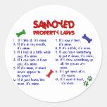 SAMOYED Property Laws 2 Round Sticker