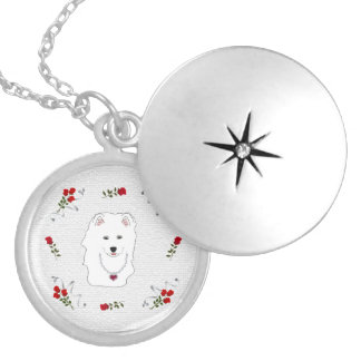 Samoyed Puppy Princess Necklace Locket.