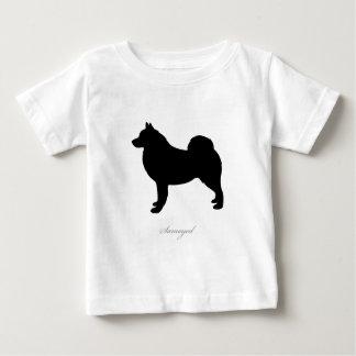 Samoyed silhouette baby T-Shirt