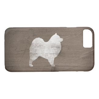 Samoyed Silhouette Rustic iPhone 8/7 Case