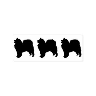 """Samoyed Stamp, 1 X 1.25"""" Pad Separate Handle sep.. Rubber Stamp"""