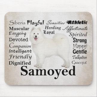 Samoyed Traits Mousepad