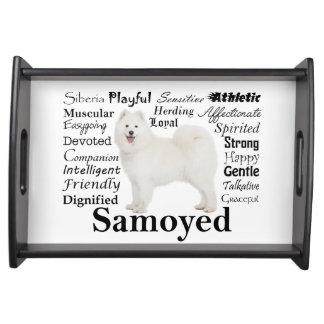 Samoyed Traits Serving Tray