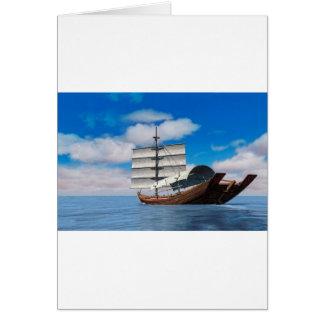 Sampan on a Cloudy Day Greeting Card