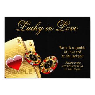 SAMPLE Casino Style Wedding | Paper: linen 13 Cm X 18 Cm Invitation Card